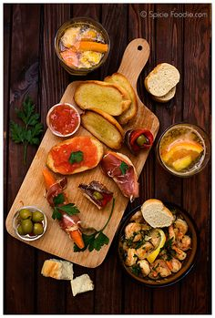 spanish tapas, fruit sangria by Spicie Foodie