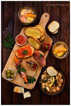 spanish tapas, fruit sangria by Spicie Foodie