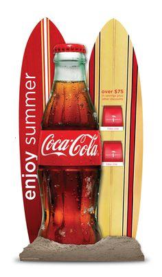 Coke Summer Standee and Coupon Booklet by Karen Dringenberg, via Behance