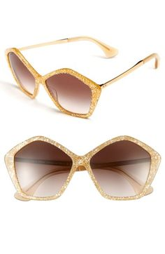 Free shipping and returns on Miu Miu 'Culte Collection' 57mm Geometric Sunglasses at Nordstrom.com. Handcrafted sunglasses with gradient lenses are distinguished with chic, pentagonal frames and branded at the metal temples with logo embossing.