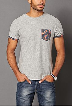Floral Pocket Tee   21 MEN - 2000090621 I know its for guys but i'd still wear it...