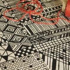 Patterns that make me want to make something! Screen printed linen fabric from Summersville on Etsy.