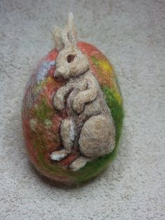 Felted Easter Egg by WoollyBirdsAndFairy March 2015