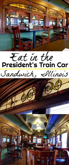 No need to dress fancy to eat in this president's train rail car! Nestled in Sandwich, Illinois you can find the original mahogany, stained glass and velvet lined rail car of President Teddy Roosevelt. This #bucketlist meal of your dreams is the perfect place to stop on your next #roadtrip when you #travel
