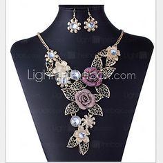 MISS U Women's All Matching Vintage Elegant Necklace & Earrings Suit - GBP £3.64