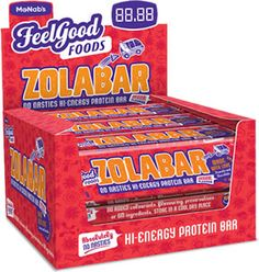 SA's first No-Nasties Hi- Energy Protein Bar  No Added colours, flavouring, preservatives or GM ingredients 20% protein per bar Original flavour with peanuts and chocolate What is ZolaBar?  ZolaBar is a great tasting, No-Nasties Hi-Energy Protein bar with 20% protein. It contains energy rich peanuts, Ghanaian vanilla and Kalahari rock salt. ZolaBar is a convenient energy and protein snack, free from added colorants, flavouring, preservatives and GM ingredients. Protein Snacks, Protein Bars, Luxury Chocolate, Peanuts, Preserves, Feel Good, Vanilla, Salt, Sweets