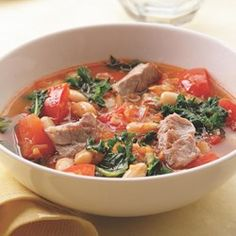 Pork, White Bean & Kale Soup - EatingWell.com