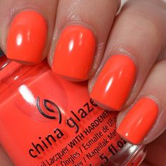 """""""Red-y To Rave"""" - China Glaze Summer 2015 Electric Nights collection."""