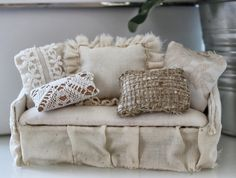 how to: shabby chic sofa by Cinderella Moments (with link to pattern)