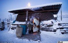Oymyakon na Sibéria, Rússia