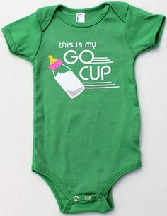 This is my Go Cup (onesie) | storyvilleapparel.com