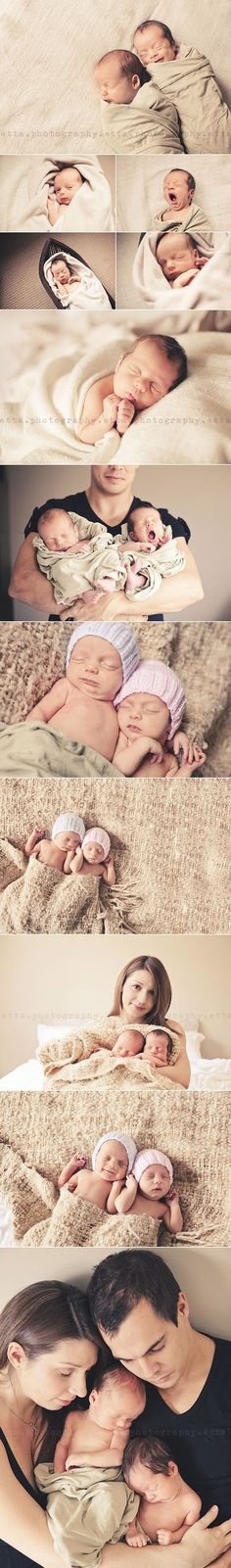 New Ideas For New Born Baby Photography : twin babies- I will ALWAYS regret not getting maternity/newborn portraits with m