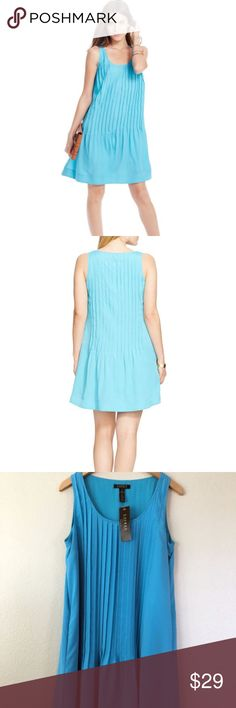 Nwt Ralph Lauren Pleated Pintuck Sleevless Dress Brand:Lauren Ralph Lauren Size:12 Condition:New with tags Category:Dresses  Color: Blues Size Type: Regular Size (Women's): 12 Lined: Yes Sleeve Style: Sleeveless Occasion: Cocktail Style: Shift Dress Length: Above Knee, Mini Material: 100% Polyester Zipper: None  Made in; Philippines Lauren Ralph Lauren Dresses Mini