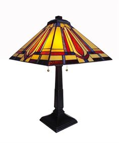 Dad's Tie Mission Tiffany Table Lamp
