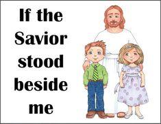 LDS Primary Chorister Flipcharts: If the Savior Stood Beside Me
