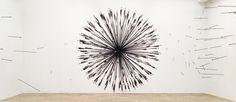 MORNING STAR by Karina Smigla-Bobinski in PFEILSCHAFTEN sculptural installation with wall installation by Bodo Korsig