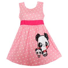 Shybobbi Fashion Girls Dress Pink Dot Panda Party Birthday Pageant Princess Children Clothes (4, Pink). Size 4-14,usually fits for 4-14 years old girl to wear. Very Cute. To USA is 7-12 day for delivery,to other countries is 9-19 days. If not satisfied, full refund.