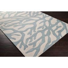 Escape Branch Coral Area Rug comes in custom sizes and available in 5 Colors. #sale #coastalrugs