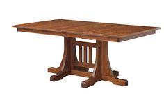 The Ridgecrest Dining Table offers a simple mission look.