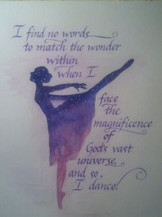 PRINT And So I Dance Watercolor/Calligraphy by FaeryWeather