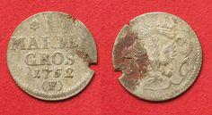 1752 Brandenburg - Preussen BRANDENBURG Mariengroschen 1752 F MAGDEBURG FRIEDRICH II silver VF SCARCE# 91697 VF