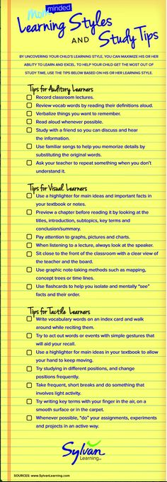 New Interesting Visual on Learning Styles and Study Tips ~ Educational…