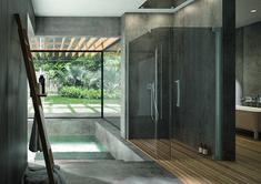 PALME® Curve - Die Duschkabine mit sanft geschwungenem Design für noch mehr Stil im Badezimmer. Divider, Room, Design, Furniture, Home Decor, Houses, Shower Cabin, Showers, Bath Room