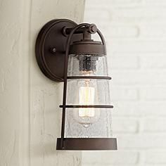 "Averill Park 10 1/2"" High Bronze Outdoor Wall Light"