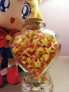 Found on Etsy, Seller: Rainbowroadalley  Kawaii Sailor Moon Origami Lucky Star Jar