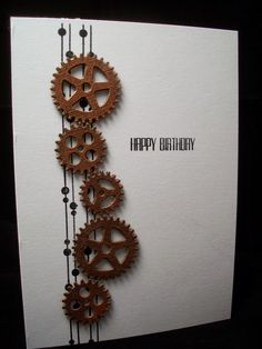 This week seems to be disappearing quicker than normal - I guess that's because I have a week off work! I've been away for a few days visit. Masculine Birthday Cards, Birthday Cards For Men, Masculine Cards, Male Birthday, Quilling, Cricut Cards, Stampin Up Cards, Tarjetas Stampin Up, Steampunk Cards