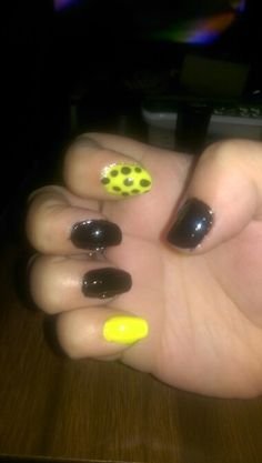 Black and neon yellow