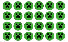 Edible Cake Image Minecraft  cupcake toppers