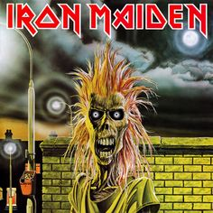 Iron Maiden - Iron Maiden The debut album and the debut of Eddie The Head. This is the original album art. For later reissues Eddie has been given a strange makeover. Albums Iron Maiden, Iron Maiden Album Covers, Iron Maiden Cover, Iron Maiden First Album, Rock And Roll, Pop Rock, Iron Maiden Posters, Eddie The Head, Musica Disco