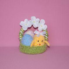 Handmade crochet easter egg basket  crochet Easter eggs