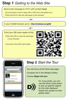 Signage for QR code to Tour from Hood Museum of Art