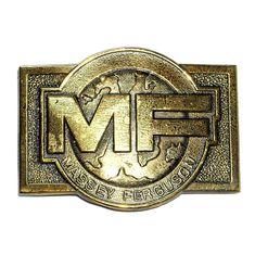 Massey Ferguson AGCO Vintage Brass Color NOS Belt Buckle