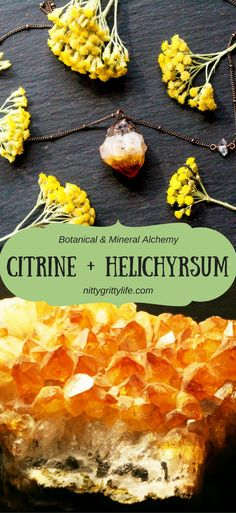 Channel your creativity and artistic vision with the confidence nurturing attributes of sunny, warm, and encouraging citrine and helichrysum.