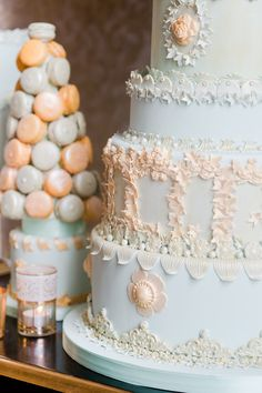 The detailing on this cake is beyond! See more from Cakes by Krishanthi on http://www.StyleMePretty.com/little-black-book-blog/2014/04/02/wedding-cake-inspiration-from-cakes-by-krishanthi/ -  CakesByKrishanthi.co.uk -  EddieJuddPhotography.com