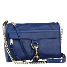 Rebecca Minkoff Mac W/ Light Gold Hardware Clutch,Navy,One Size Rebecca Minkoff Handbags, Best Handbags, Denim Bag, Leather Design, Italian Leather, Leather Crossbody, Mac, Purses, Shoe Bag