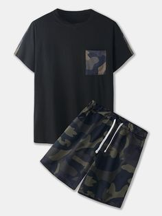 New Mens Fashion, Tomboy Fashion, Mens Leisure Wear, Terno Casual, Night Pajama, Two Piece Outfit, Summer Shirts, Casual Outfits, Boy Outfits