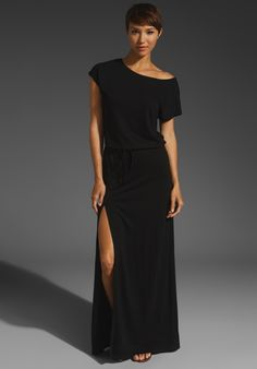 LANSTON  Off the Shoulder Slit Maxi
