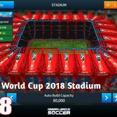 "Dream League Soccer is a most popular football video game Created by ""First touch Games Limited"" Today Sharing Dream League Soccer 2018 - 2019 MOD World Cup Russia 2018, World Cup 2018, Fifa World Cup, Football Video Games, Soccer Games, Barcelona Team, Offline Games, Soccer Stadium, Uefa Champions League"