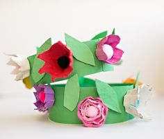 DIY EGG CARTON FLOWER CROWN