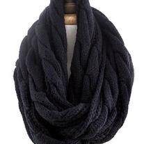 Aura Cable Knit Infinity Scarf