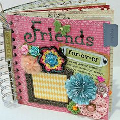 FRIENDS FOREVER A-z Friendship Scrapbook by Papersilly on Etsy