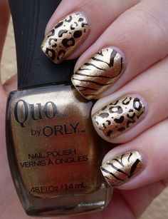 Quo by Orly Pedicure Nails, Manicure, Designer Nails, Crazy Crazy, Nail Pictures, Leopard Prints, Nail Polish Art, Love Nails, Beauty Nails