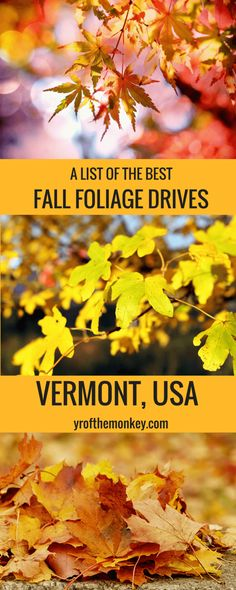 Vermont Fall Foliage drives features the best fall destination of USA, New england with best places to see fall foliage, fall foliage guide, routes to see fall colors and a handy fall foliage tracker link. Read about this ultimate USA fall destination to see dazzling fall colors.