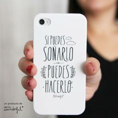"""""""if you can dream it you can do it"""" iphone case Iphone Phone Cases, Phone Covers, Typography Letters, Lettering, Phone Accesories, Mr Wonderful, Tablets, Cute Cases, Positive Messages"""
