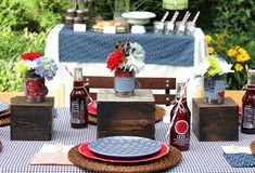 Backyard BBQ Inspiration {Part 1} – Tabletop & Buffet + FREE Printables — Celebrations at Home