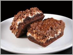 brownies recipe - easy peanut butter topped with marshmallow and rice crisps